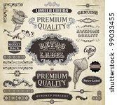 vector set  calligraphic design ... | Shutterstock .eps vector #99033455