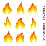 collection of fire icons | Shutterstock . vector #99034862
