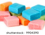 colorful candy squares