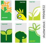 eco concept die cut card | Shutterstock .eps vector #99046922