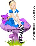 adorable,alice,art,artwork,beauty,blond,blue,cartoon,cat,cheshire,classic,clip,clip art,clip-art,clipart
