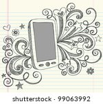 hand drawn mobile cell phone... | Shutterstock .eps vector #99063992