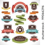 vintage labels and ribbon retro ...