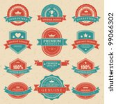 vintage labels and ribbon retro ... | Shutterstock .eps vector #99066302