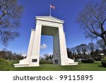 Children of a Common Mother - Peace Arch between Canada and United States