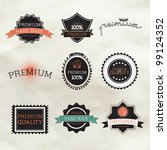 vintage label style with nine... | Shutterstock .eps vector #99124352