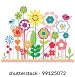 natural spring flowers | Shutterstock .eps vector #99125072