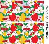 fruit and flower seamless... | Shutterstock .eps vector #99134342
