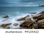 Beautiful Sea Coast With...