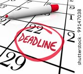 The Word Deadline Circled On A...