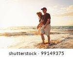 senior couple enjoying sunset... | Shutterstock . vector #99149375