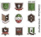 vector set of nine colored golf ...   Shutterstock .eps vector #99154022