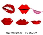 six types of lips   Shutterstock .eps vector #9915709