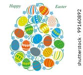 the egg of easter eggs and... | Shutterstock .eps vector #99160892