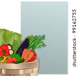 grocery shopping list  with...   Shutterstock .eps vector #99162755