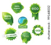 green  eco  bio and organic... | Shutterstock .eps vector #99168032