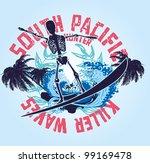 skeleton surf | Shutterstock .eps vector #99169478