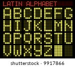 latin alphabet. indicator.... | Shutterstock . vector #9917866