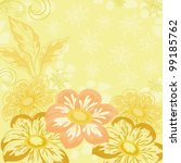 yellow holiday background with... | Shutterstock .eps vector #99185762