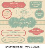 vector set with vintage labels | Shutterstock .eps vector #99186536