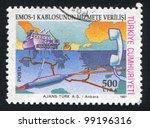 turkey  circa 1991  stamp...   Shutterstock . vector #99196316