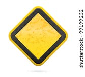 grunge empty road sign | Shutterstock .eps vector #99199232