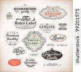 vector set  calligraphic design ... | Shutterstock .eps vector #99201575