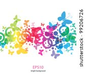 bright butterflies on abstract... | Shutterstock .eps vector #99206726