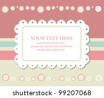 greeting card template design.... | Shutterstock .eps vector #99207068