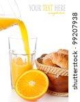 fresh orange juice with... | Shutterstock . vector #99207938