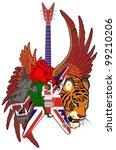england guitar skull | Shutterstock .eps vector #99210206