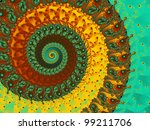 Abstract Coil Background In...