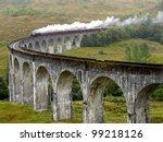 Steam Train On Glenfinnan...