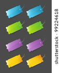 colorful price tags | Shutterstock .eps vector #99224618