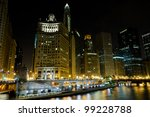 Downtown Chicago By Night From...