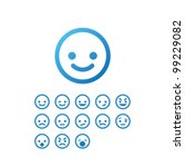 vector smile icon set | Shutterstock .eps vector #99229082
