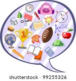 different school icons of stuff ... | Shutterstock .eps vector #99255326