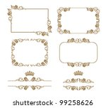 vector set of decorative... | Shutterstock .eps vector #99258626