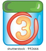 stylized circled date icon or... | Shutterstock . vector #992666