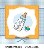 baby announcement card with... | Shutterstock .eps vector #99268886
