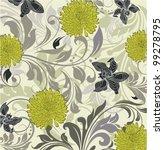 vintage floral background   Shutterstock .eps vector #99278795