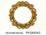 oval gold baroque style frame... | Shutterstock . vector #99284042