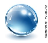 3d glass sphere  vector... | Shutterstock .eps vector #99286292