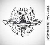 sketches summer badge | Shutterstock .eps vector #99288566