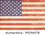 vintage american flag | Shutterstock .eps vector #99296978