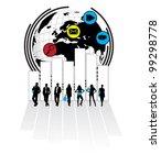 business illustration   Shutterstock .eps vector #99298778