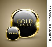 golden shiny modern element.... | Shutterstock .eps vector #99300506