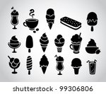 ice cream icons | Shutterstock .eps vector #99306806