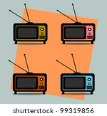 vintage television graphic... | Shutterstock .eps vector #99319856