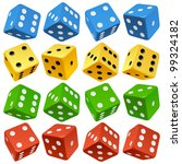 Game Dice Set. Vector Red ...